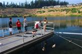 New fishing dock at Progress Lake