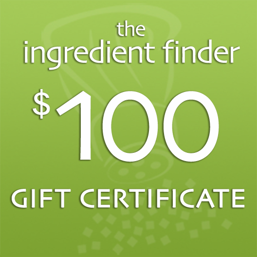 $100 Ingredient Finder Gift Certificate