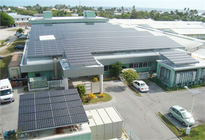 209kW Kyocera solar power generating system at Majuro Hospital in the Marshall Islands