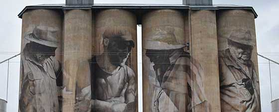 Grain silos in Horsham