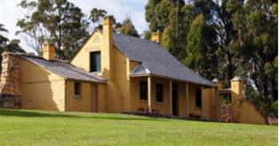 Smith O&#39;Briens Cottage, one of a number of museum houses at Port Arthur