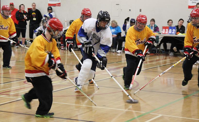 Floor hockey at the 2015 SOBC Winter Games