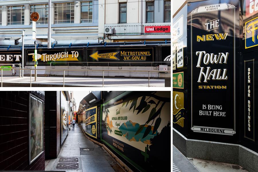 Artwork at Flinders Street