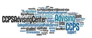 word cloud for CCPS Advising Center
