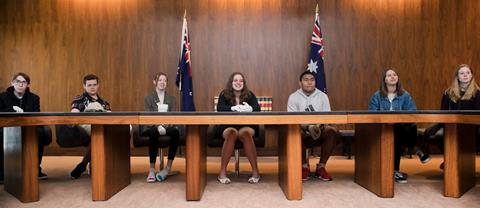 Students in the Cabinet Room