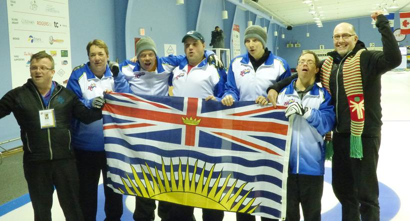 Team BC 2016 gold-medal-winning curlers from Quesnel