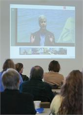 Gov. Snyder in energy vision webcast at GVSU MAREC.
