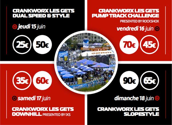 Réservez votre Pass VIP pour le Crankworx Les Gets 2017