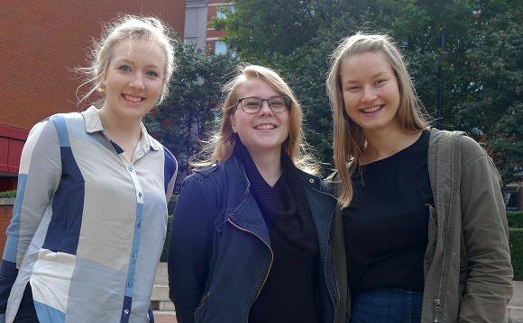from left Pipariina, Kristiina, Anni