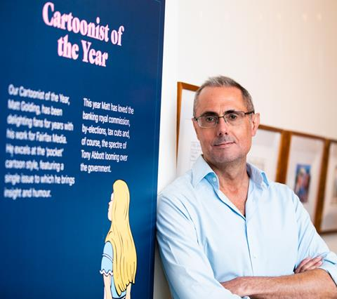 Cartoonist of the Year Matt Golding