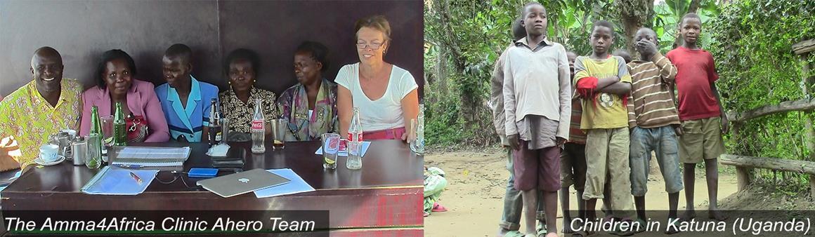Amma4Africa Ahero team and children in Katuna