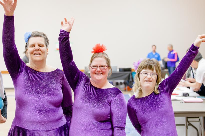 Special Olympics rhythmic gymnasts