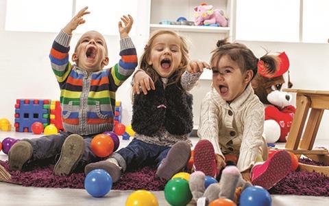 Preschool children at play