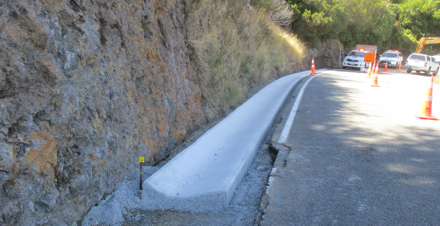 Drainage channel on Dyers Pass Road