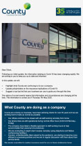 Covid-19 Update from County