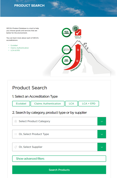 GECA Launches New Product Search