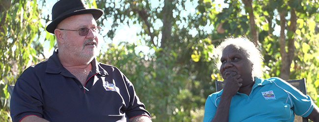 John Maher and Joan Dhamarrandji of Mitwatj Health Aboriginal Corporation