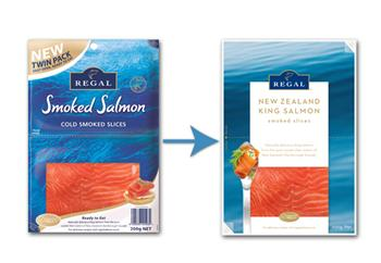 New Regal Salmon packaging