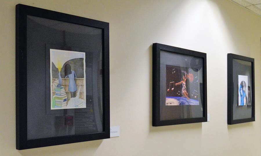 Bridge Art Gallery image of three artworks