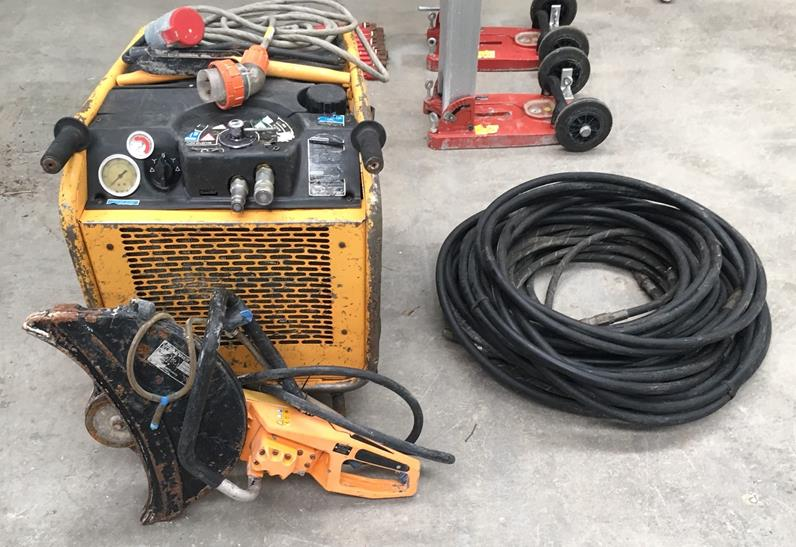 HE40 3 phase electric power pack PLUS K2500 saw.