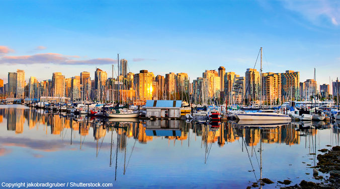 Vancouver harbour and skyline