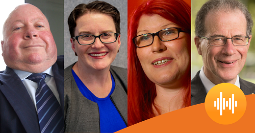 Four panellists at NDIS talk