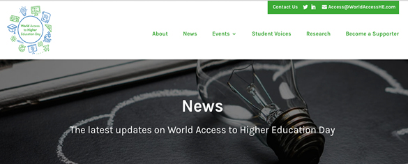 World Access to Higher Education Day website