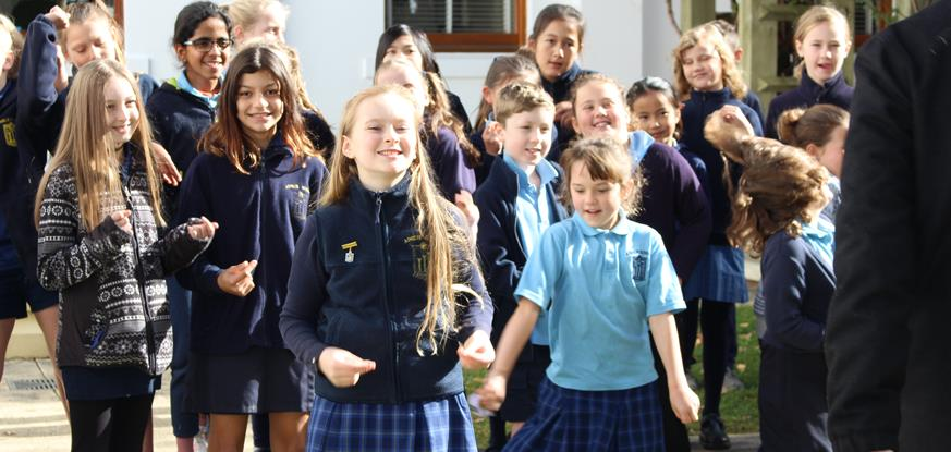 Student choir sings 'A Call To Action'