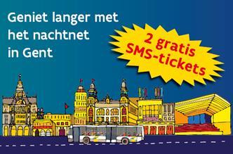 2 gratis SMS-tickets nachtnet Gent