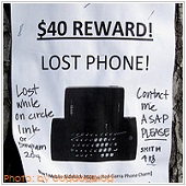 Lost phone ads