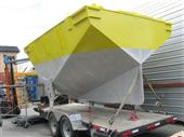 The hull under construction for the AXYS WindSentinel for the Lake Michigan Offshore Wind Assessment Project.