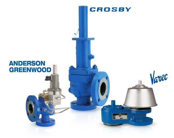Anderson Greenwood, Crosby, Varec relief valve