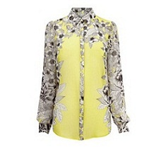 Placement print blouse, £45