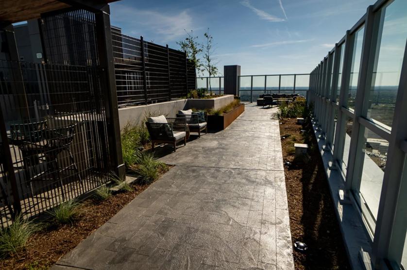 Sealed concrete walkway