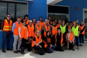 Participants of the organics processing facility tour