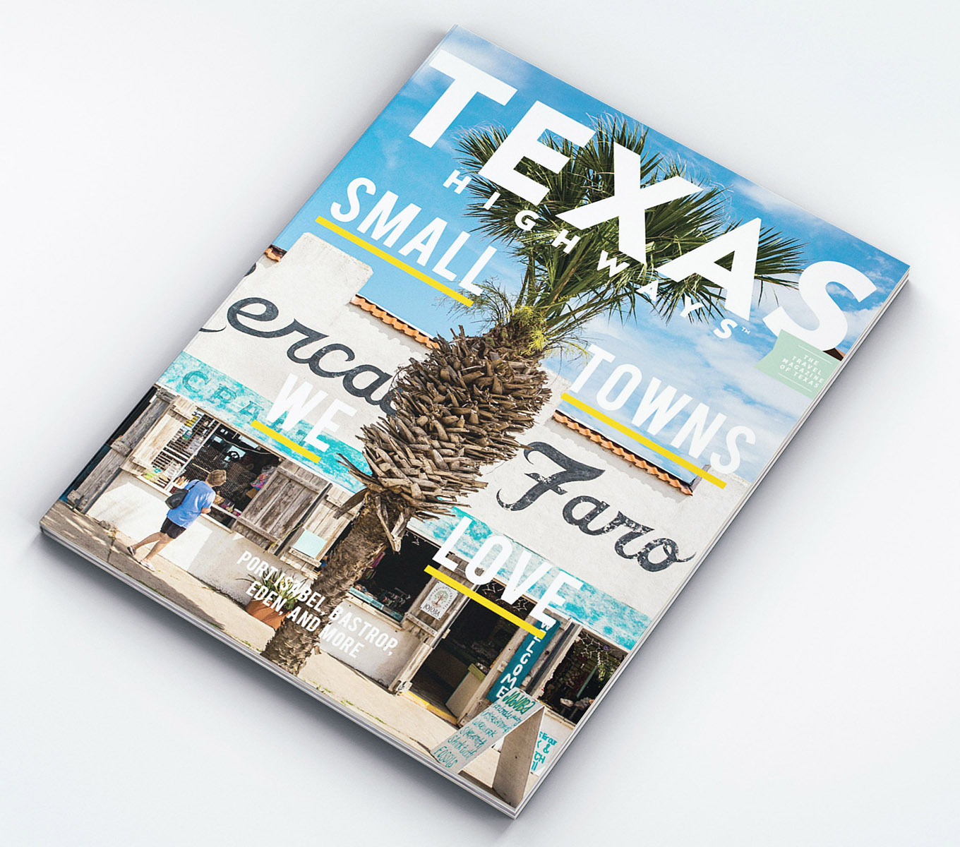 The cover of the August 2021 issue of Texas Highways Magazine