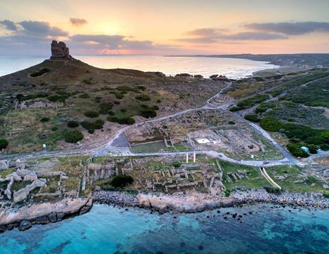 Excavations at Tharros, Sardinia. Photo: Steven Ellis.