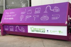 City of Stonnington's e-waste skip