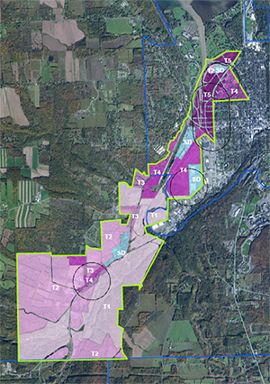Smart zoning applied to Town and City of Ithaca demonstration area
