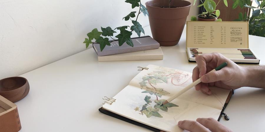 Drawing with Irojiten Color Pencils by Emil
