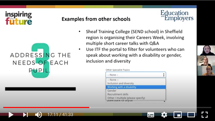 Screenshot from a CPD session this year: Deepening meaningful encounters with employers & employees.