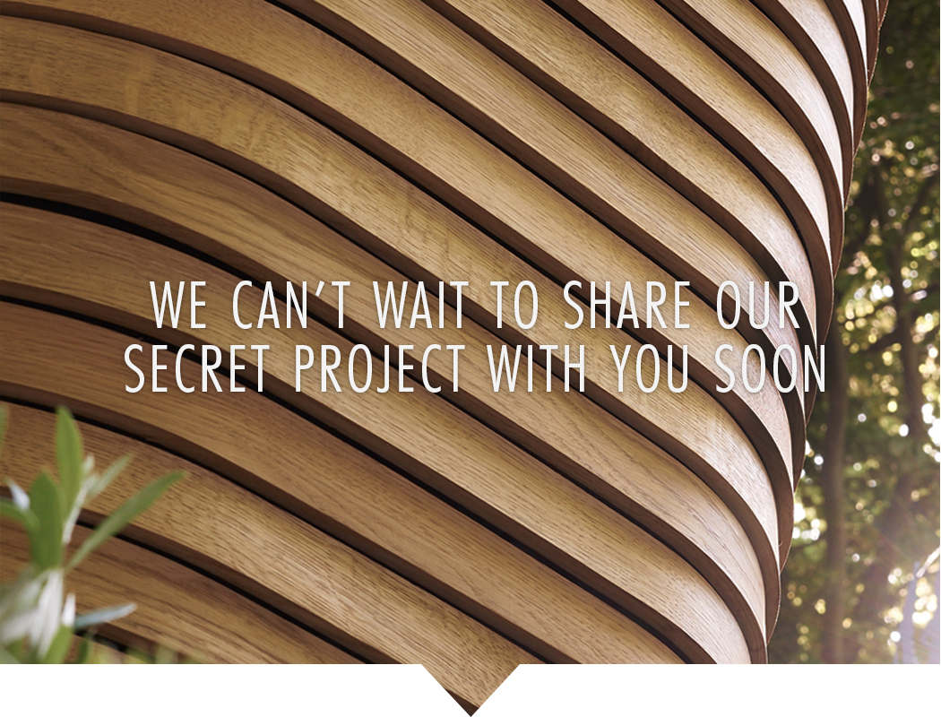 We can't wait to share our secret project with you soon