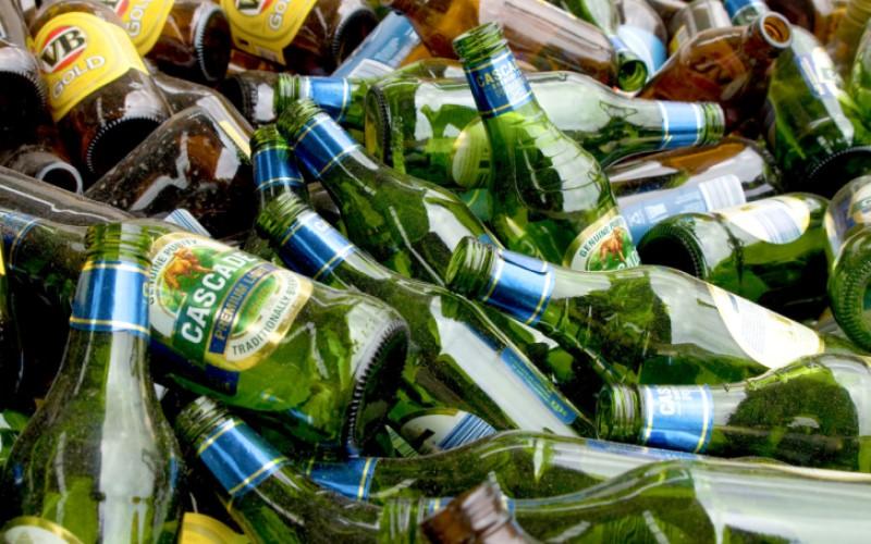 assorted beer bottles