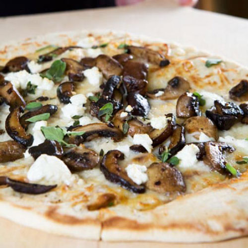 Wild Mushroom Flatbread With Goat Cheese