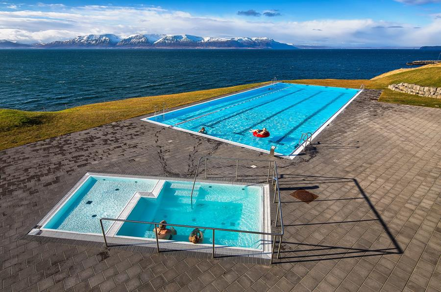 Iceland swimming pools and ocean