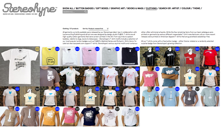 Stereohype (T-)shirts