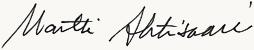 Martti Ahtisaari signature