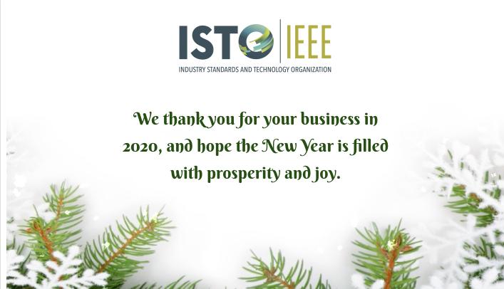 Happy Holidays from ISTO!