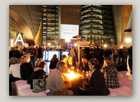 Photo: WMCLV announced attendance was up at this week's Winter Las Vegas Market. Exhibitors reported increased purchasing and buyers enjoyed the Opening Night Reception, Alfresco: a Taste of Vegas (pictured).