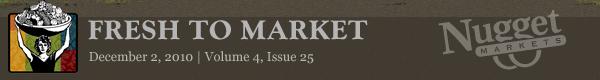 """Nugget Markets """"Fresh to Market"""" December 2, 2010"""